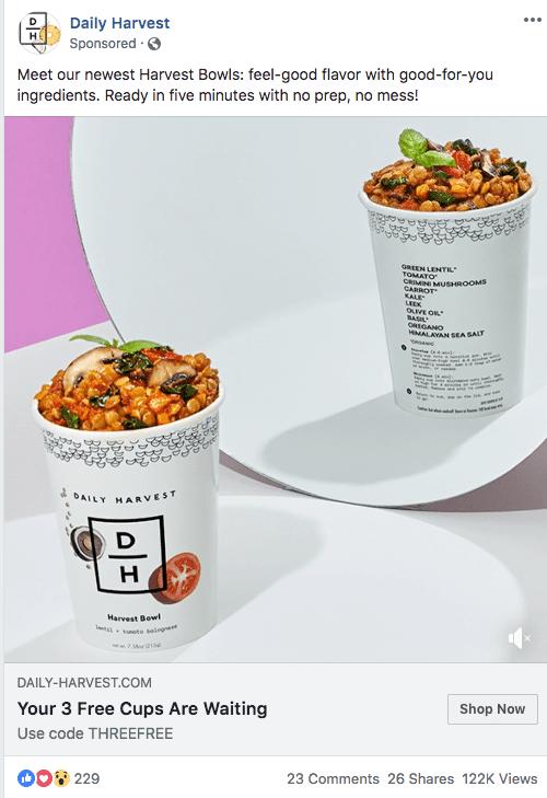 screenshot of a facebook ad