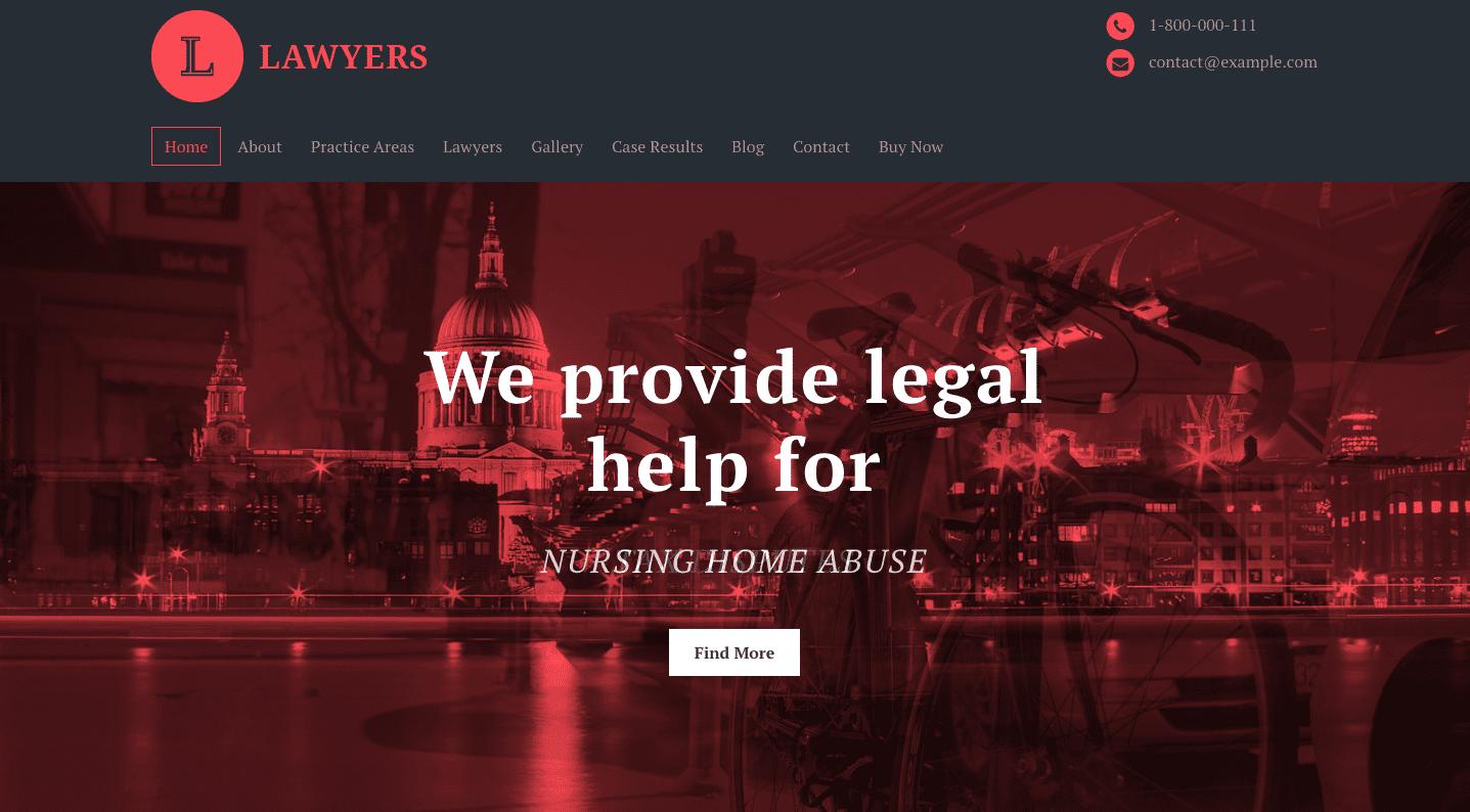 lawyers premium wordpress theme