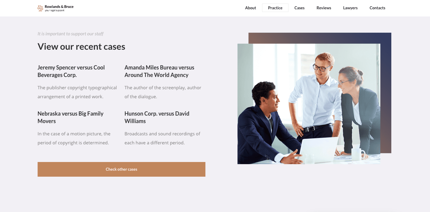Ronneby wordpress theme for law firms