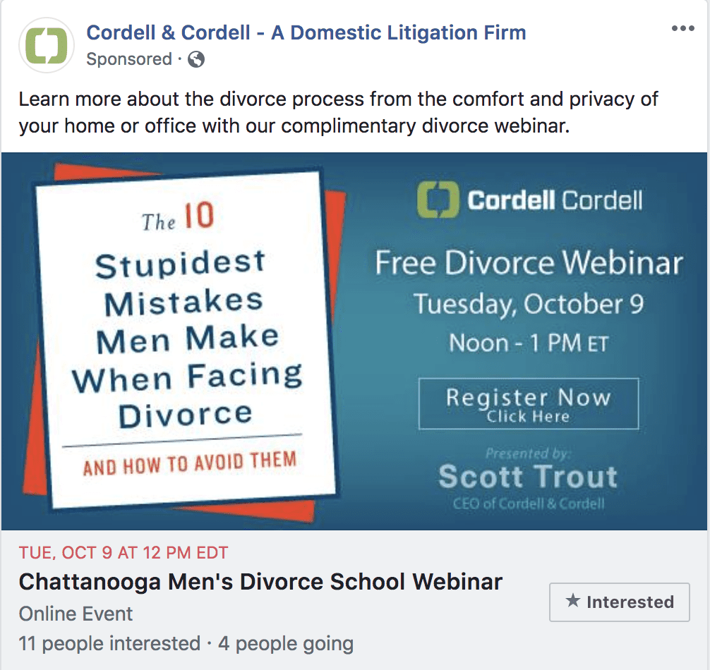 how to do facebook ads for attorneys