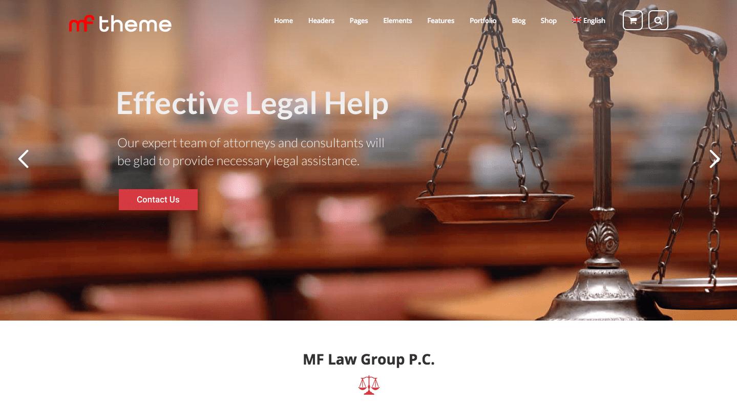 mf wordpress theme for attorneys