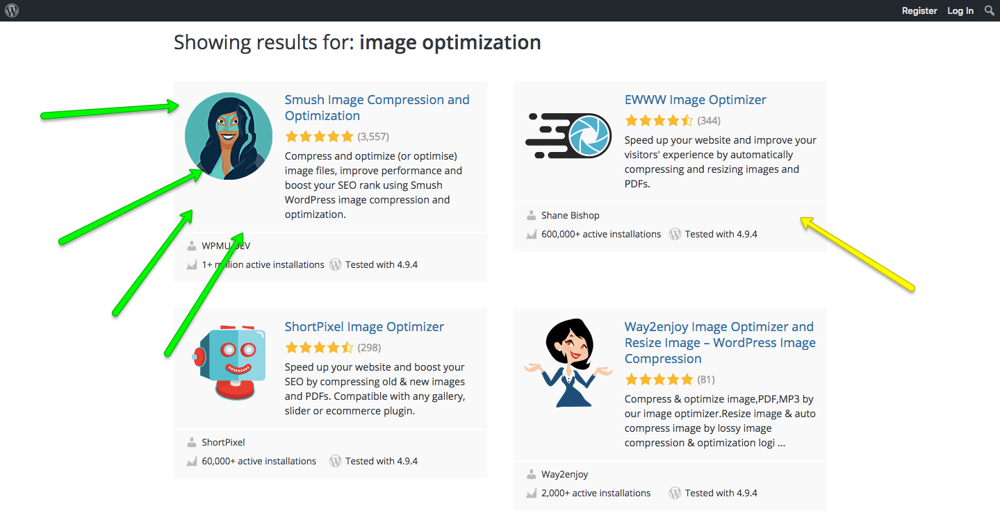 wordpress image optimization plug-ins