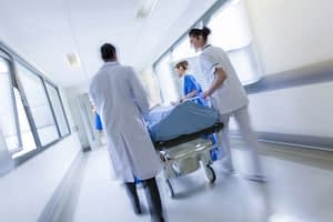photo of an emergency room after an accident scene