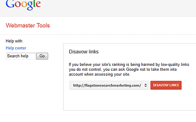 Google Webmaster Tool disavows links (and perhaps negative SEO)