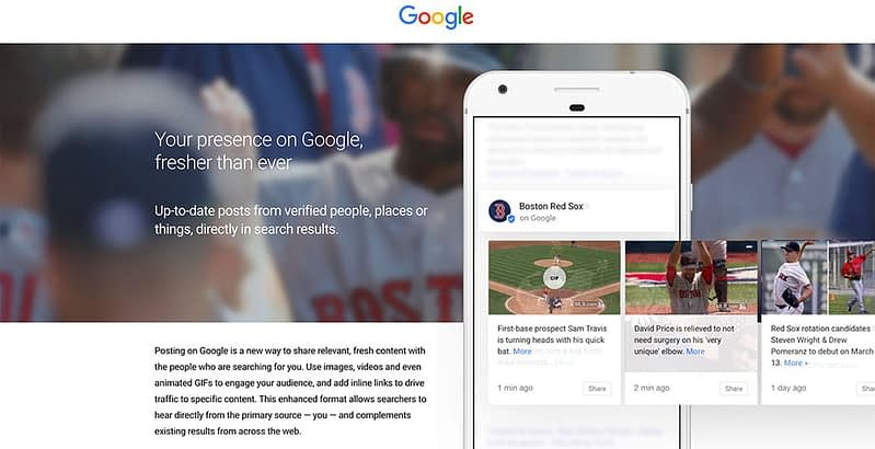 google my business and google posts
