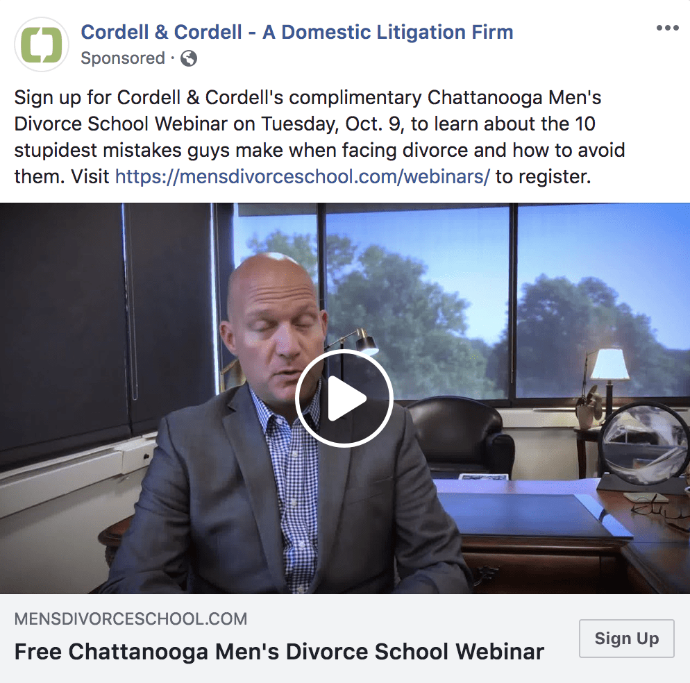 facebook video ad example facebook for lawyers
