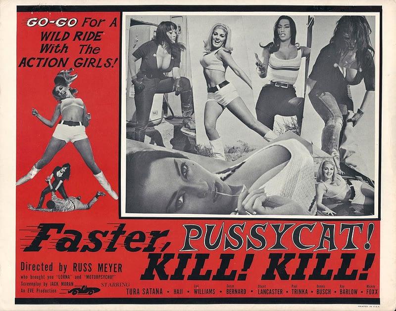faster pussycat kill kill movie poster